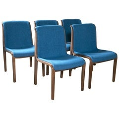 Set of Ten Knoll Chairs Designed by Bill Stephens