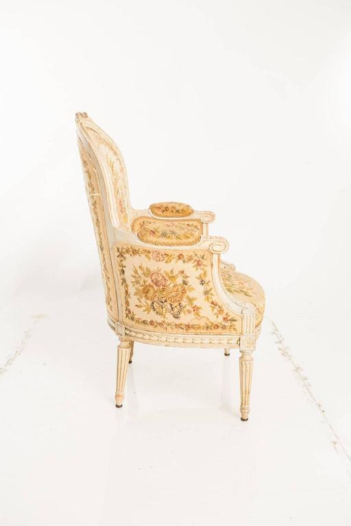 French Needlepoint Bergères Chairs For Sale