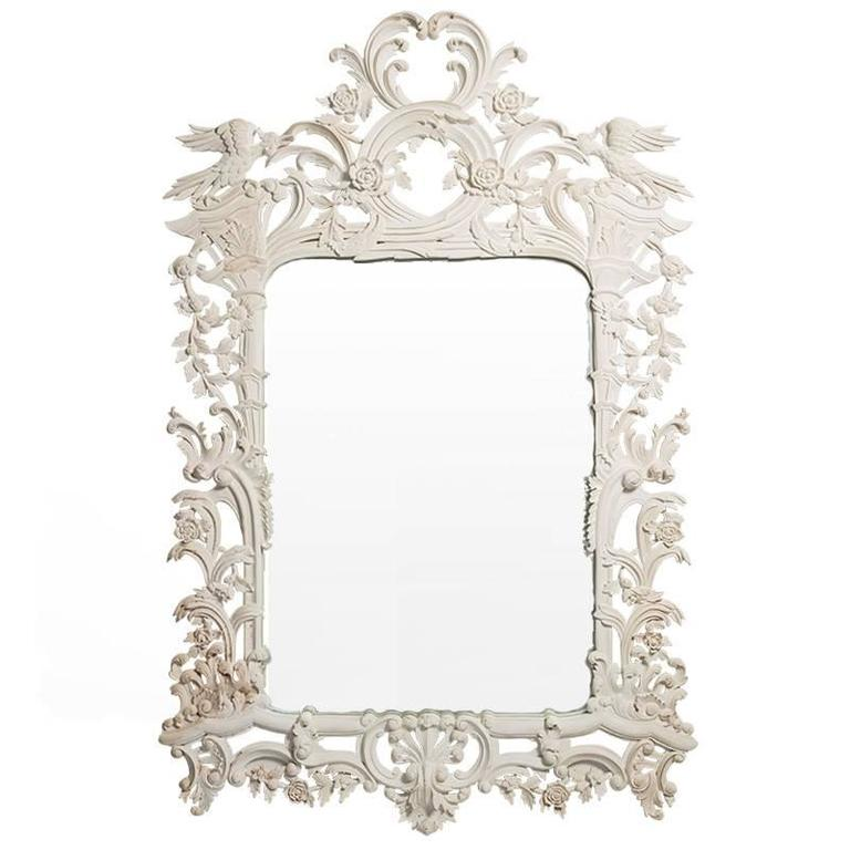 Pair of Painted Venetian Mirrors at 1stdibs