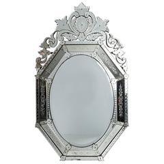 Plume Top Venetian Mirror