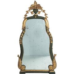19th Century Painted and Gilded Italian Mirror