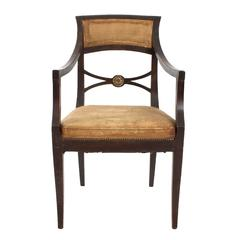 Distressed Regency Armchairs