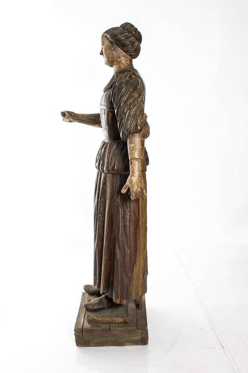 Painted Carved Polychrome Figure