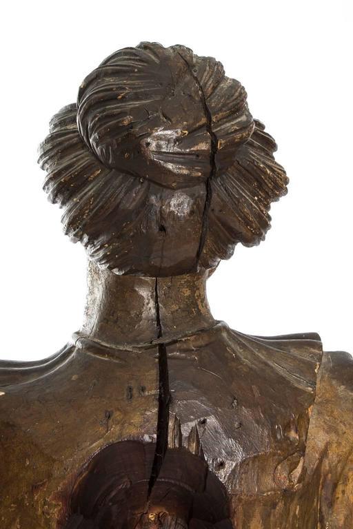 Carved Polychrome Figure 1