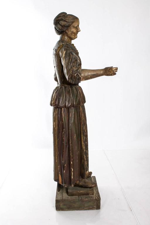 19th Century Carved Polychrome Figure