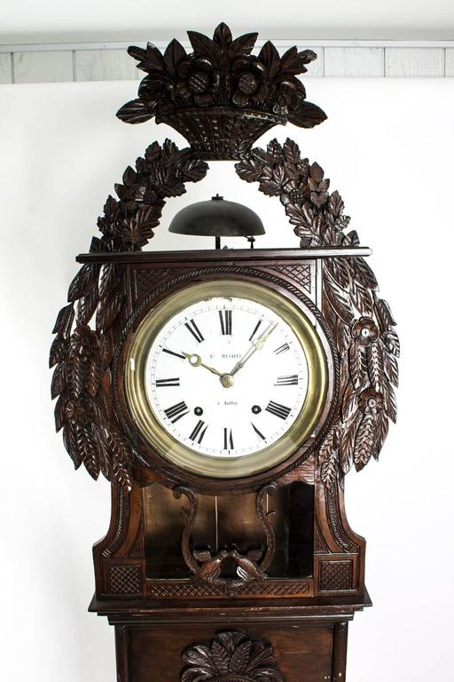 19th Century Grandfather Clock In Good Condition For Sale In Stamford, CT