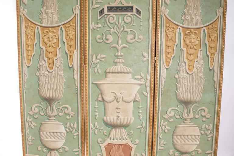 Trompe L'oeil Three-Panel Screen In Good Condition For Sale In Stamford, CT
