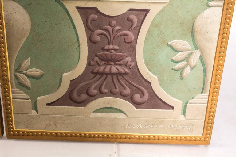 Trompe L'oeil Three-Panel Screen For Sale 2
