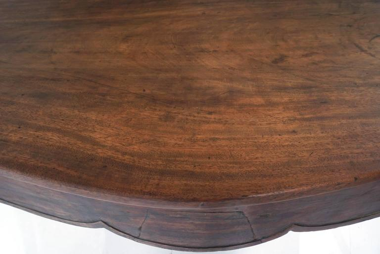 Continental Mahogany Table For Sale 6