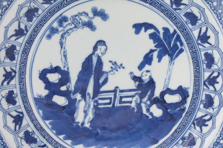 Chinese Blue and White Plate In Good Condition For Sale In Stamford, CT
