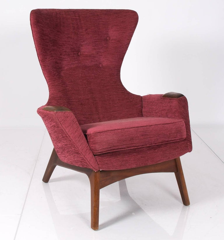 1960s Missoni Wingback Chair At 1stdibs: 1960s Adrian Pearsall Wingback Chairs At 1stdibs