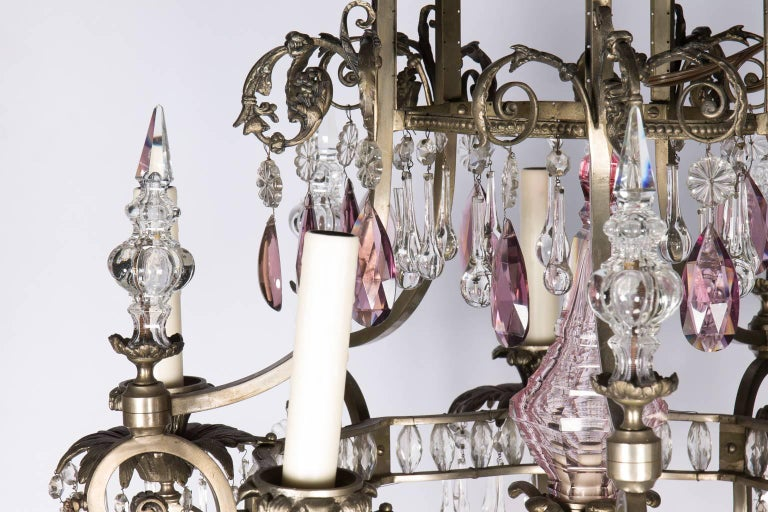 Louis XVI Style Six-Light Crystal Chandelier For Sale 1