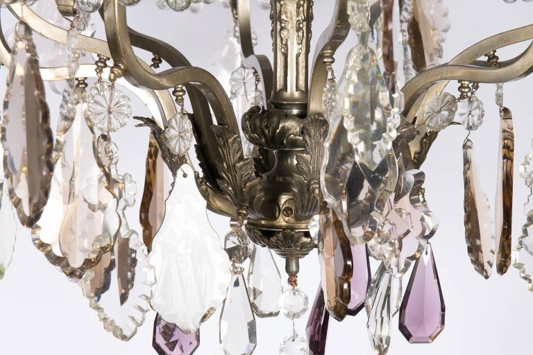 Louis XVI Style Six-Light Crystal Chandelier For Sale 2