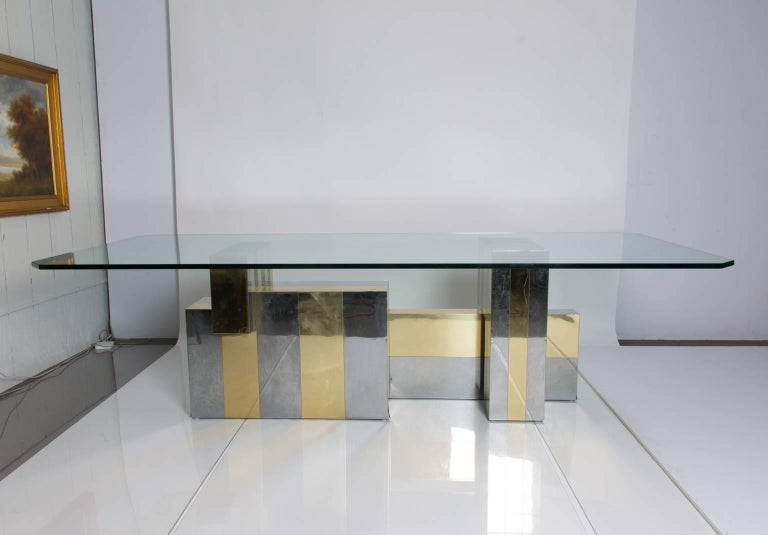 Metal Paul Evans Dining Table For Sale