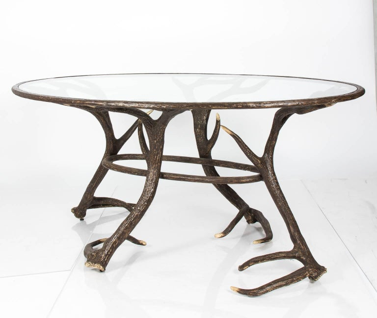 Metal Faux Deer Antler Table For Sale At 1stdibs