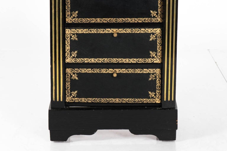 19th Century Black Painted Cartonnier For Sale
