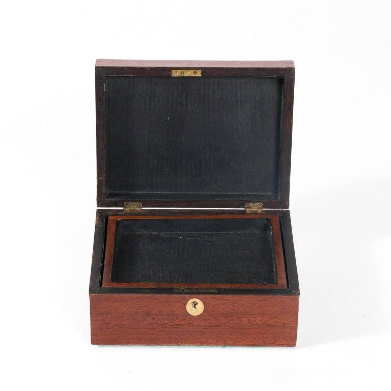 20th Century Mahogany Box with Shell Design