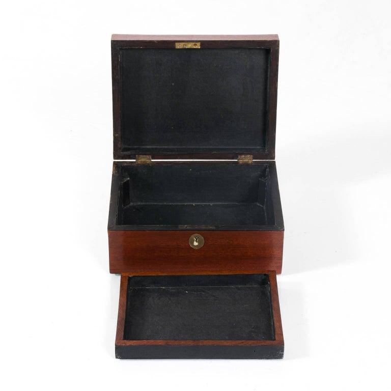 Mahogany Box with Shell Design 1