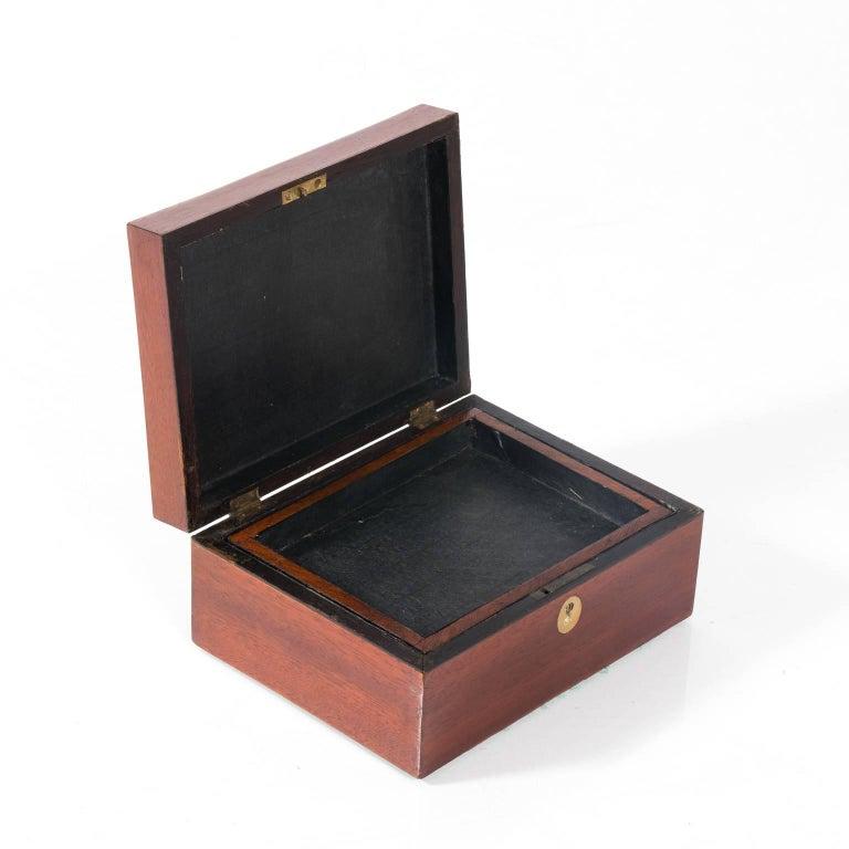 Mahogany Box with Shell Design 2