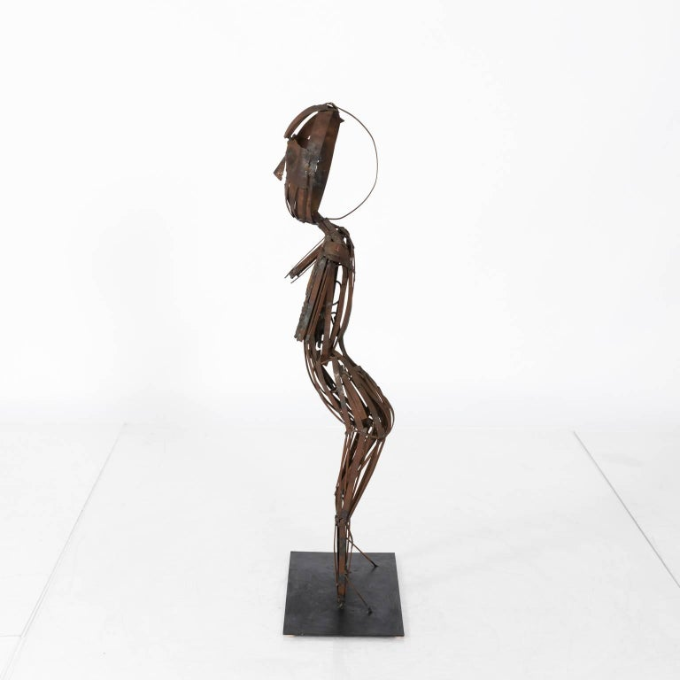 Brutalist Steel Sculpture  For Sale 4