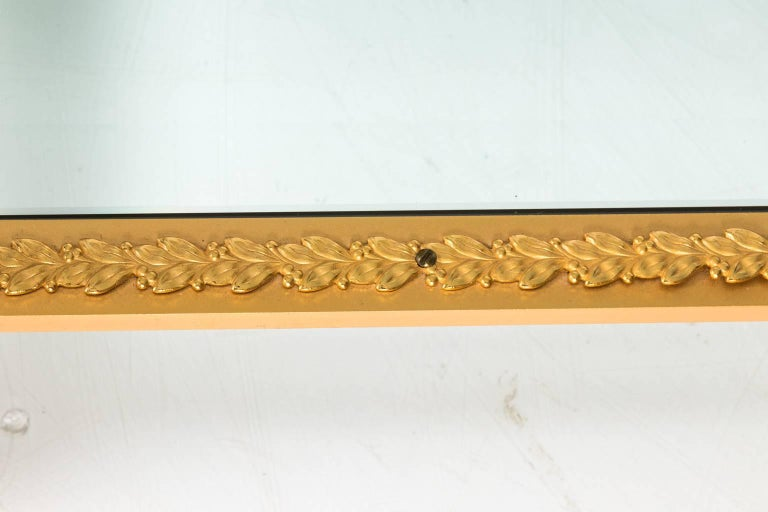 Gilt Bronze Coffee Table In Excellent Condition For Sale In Stamford, CT