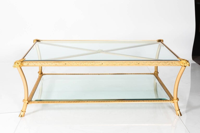 Gilt Bronze Coffee Table For Sale 3
