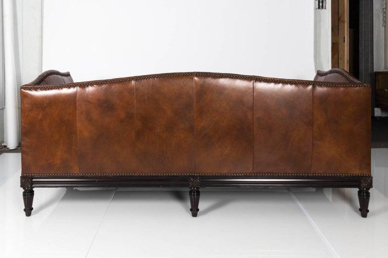 Custom Leather Sofa by Sherrill Furniture