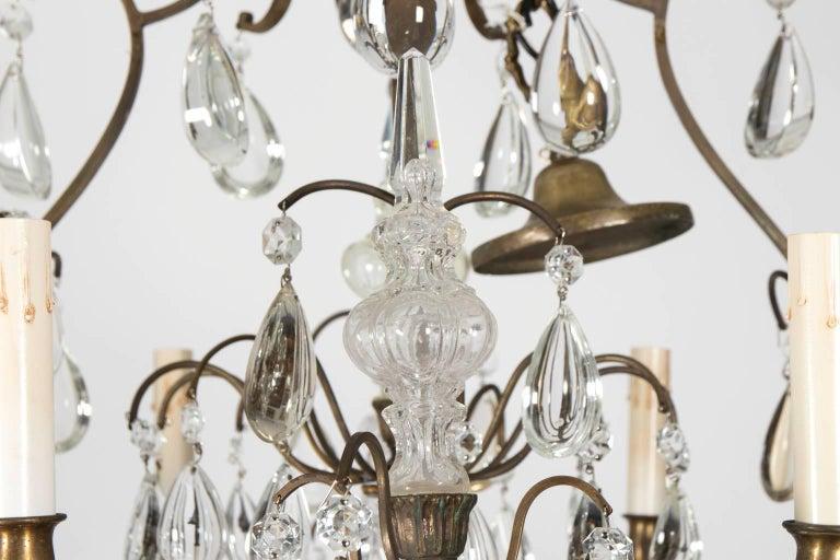20th Century Eight-Light Crystal Chandelier, circa 1900