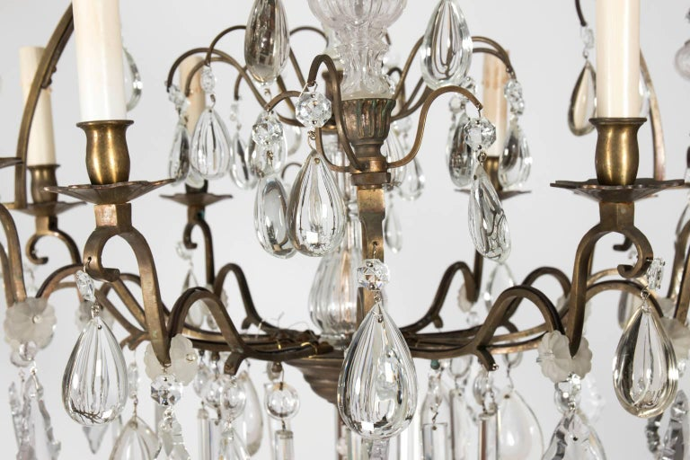 Eight-Light Crystal Chandelier, circa 1900 In Good Condition In Stamford, CT