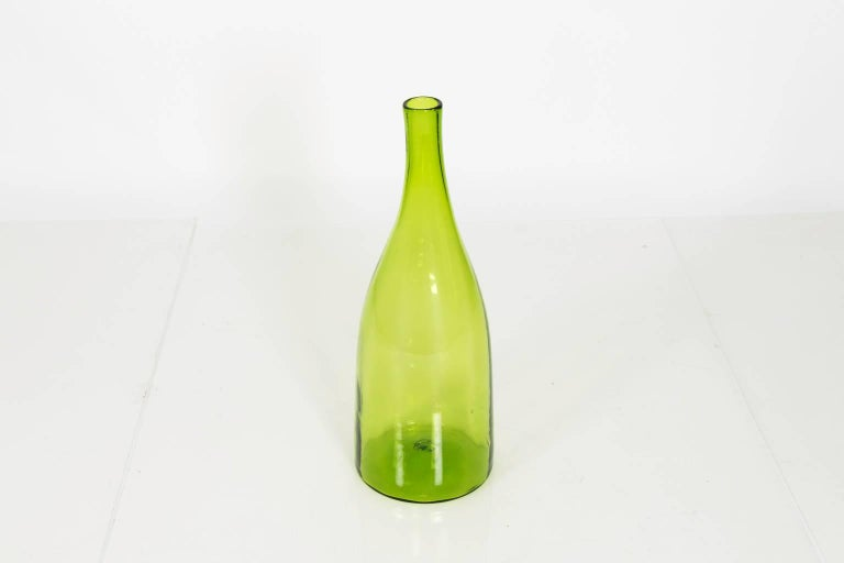 Mid-Century Modern Green Blenko Glass Vase For Sale