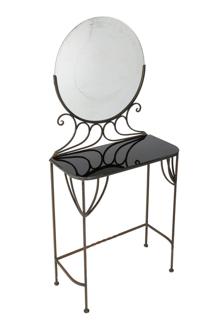 French Art Deco Vanity by Edgar Brandt, circa 1930s For Sale 2