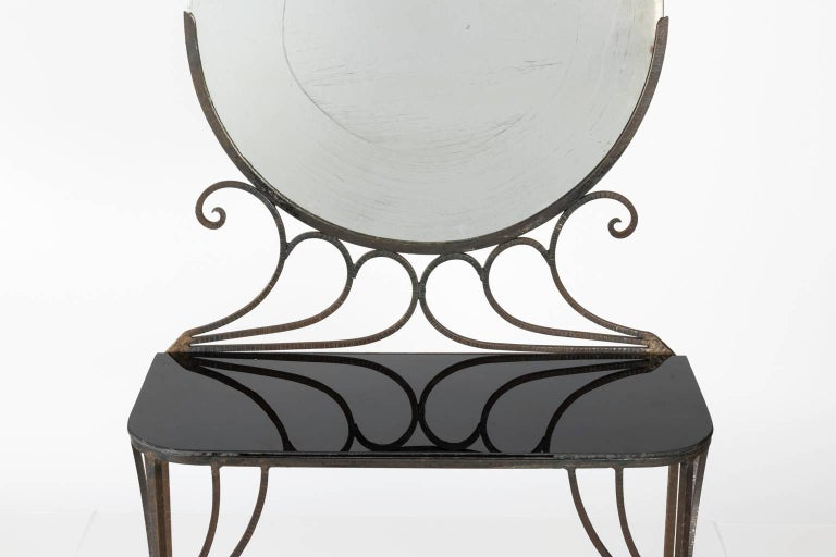 French Art Deco Vanity by Edgar Brandt, circa 1930s For Sale 1