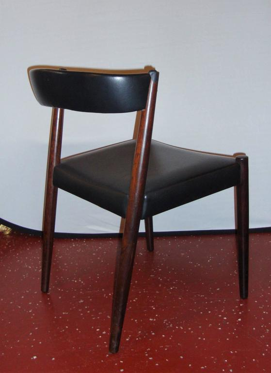 Pair Of Custom Quality Danish Mid Century Modern Side Chairs In Good  Condition For Sale