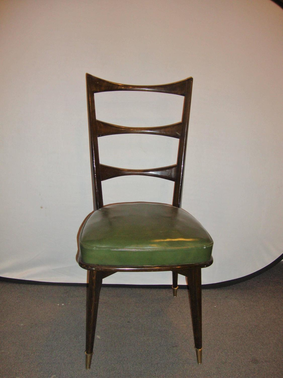 Set Of Eight Italian Mid Century Modern Dining Chairs For Sale At 1stdibs