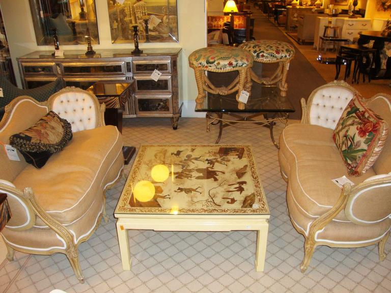 Custom Chinoiserie Paint Decorated Coffee Table 2