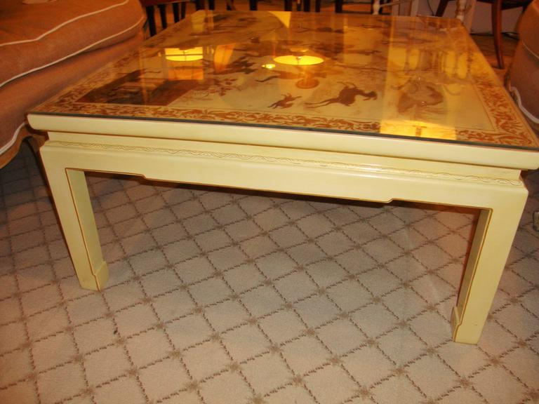 Custom Chinoiserie Paint Decorated Coffee Table 8