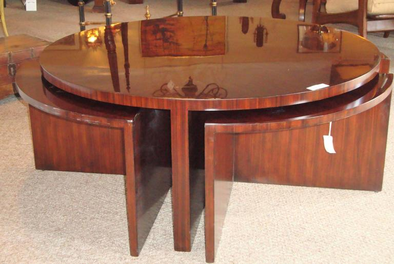 Ralph Lauren Five Piece Pull Out Cocktail Or Coffee Table Mid Century Modern At 1stdibs