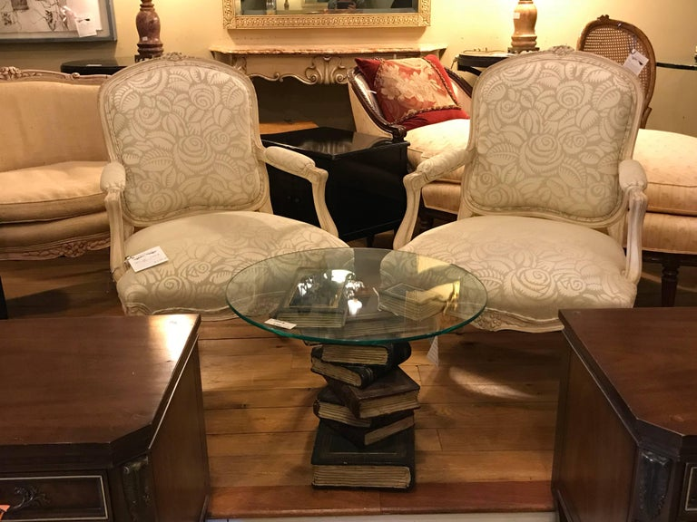 Pair of Louis XV Style Bergère Armchairs For Sale 6