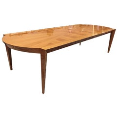 Mid-Century Modern Dakota Jackson Australian Lacewood Dining / Conference Table