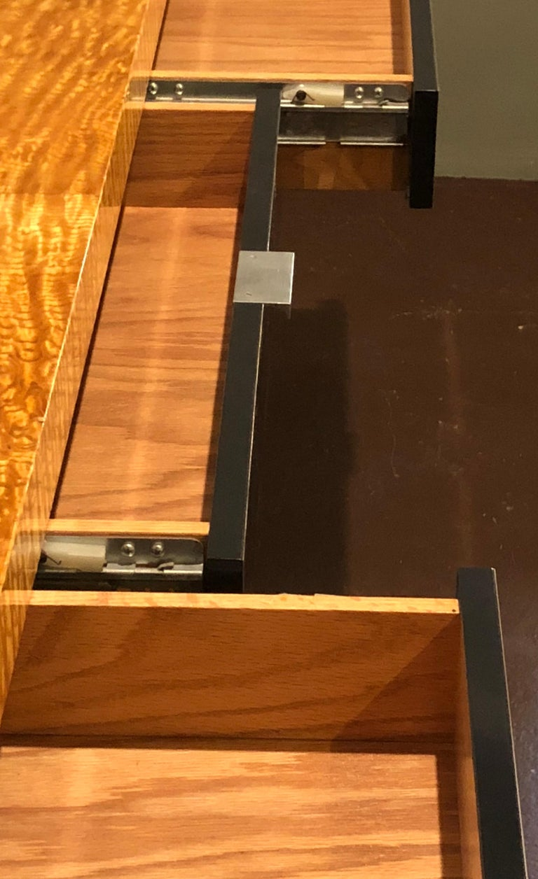 Vladimir Kagan Burl Wood and Lacquered Sideboard or Console with File Cabinets For Sale 8