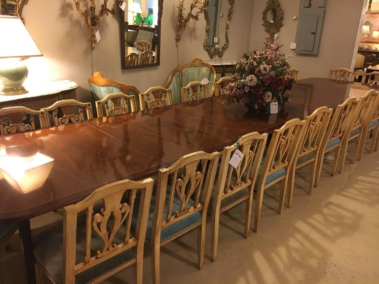 Monumental English Georgian Style Dining Table 48 Feet Long For Fascinating English Dining Room Furniture
