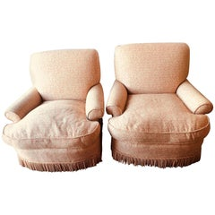 Pair of Overstuffed Arm or Lounge Chairs