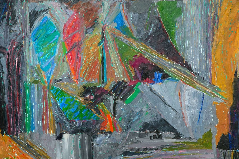 Mid-Century Modern Oil on Canvas Abstract by John McNamara, American For Sale
