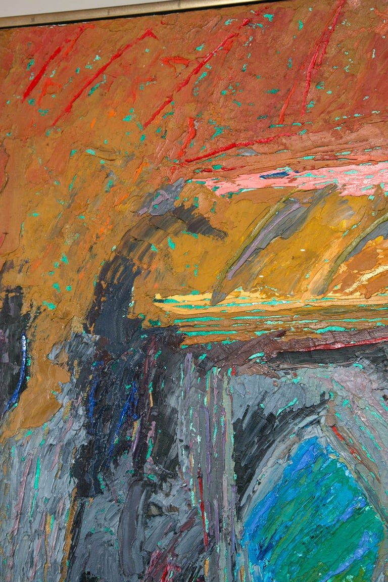Oil on Canvas Abstract by John McNamara, American In Excellent Condition For Sale In Stamford, CT