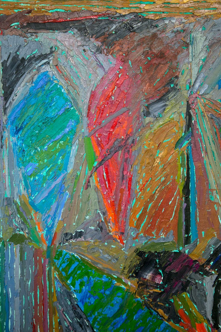 20th Century Oil on Canvas Abstract by John McNamara, American For Sale