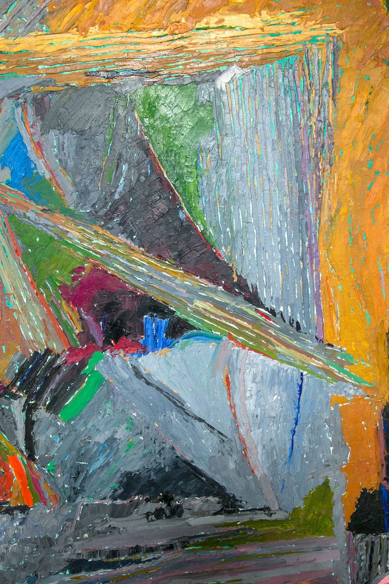 Oil on Canvas Abstract by John McNamara, American For Sale 1