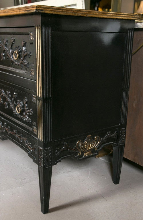 Neoclassical Style Ebonized Commode in the Style of Maison Jansen 3