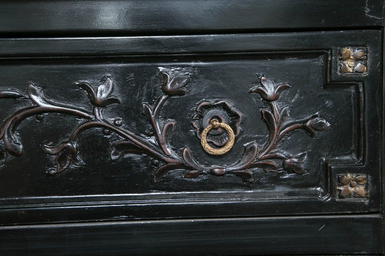 Neoclassical Style Ebonized Commode in the Style of Maison Jansen 4