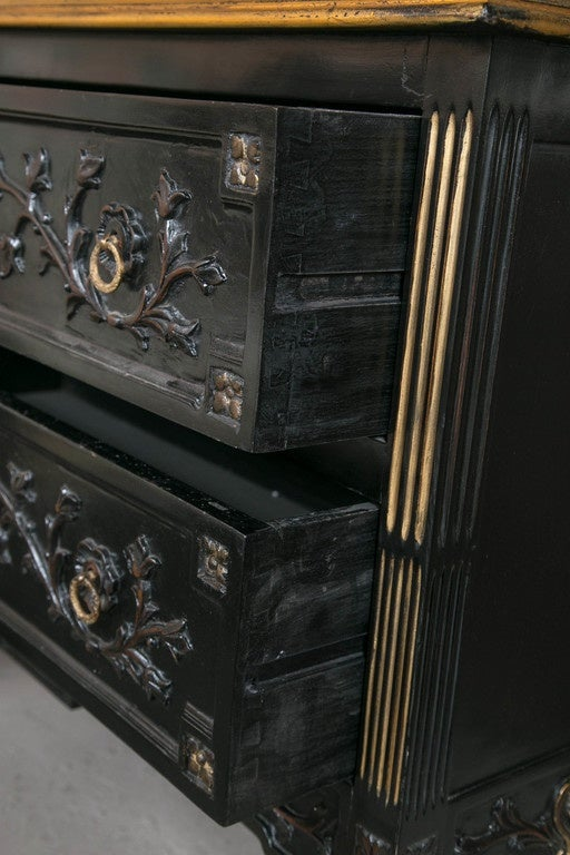 Neoclassical Style Ebonized Commode in the Style of Maison Jansen 5