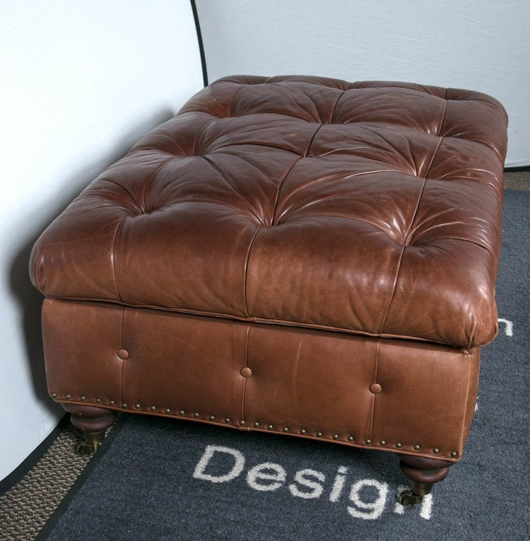Surprising Ralph Lauren Leather Storage Ottoman Bench At 1Stdibs Ncnpc Chair Design For Home Ncnpcorg